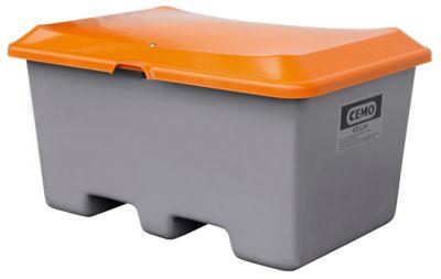 Streugutbehälter unterfahrbar, ohne Entnahmeöffnung 400 l, L 1210 x B 820 x H 680 mm