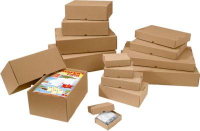 Stülpdeckelkartons, verstärkt, 1-wellig, 305 x 215 x 150-270 mm, 25 Stück