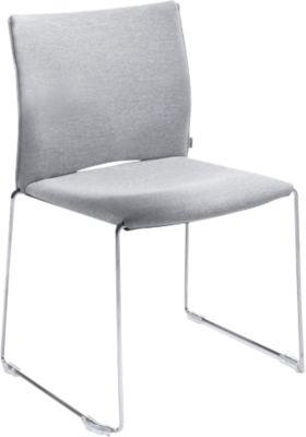 Stuhl Ariz 570 V, gepolstert/gepolstert, grau