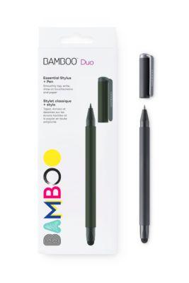 Stylus Wacom Bamboo Duo 2-in-1, voor tabletten en papier, punt 6 mm, zwart, voor tabletten en papier.