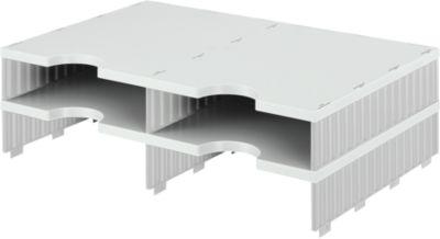 styro® Sortierstation styrodoc Standard, DIN C4, Anbaueinheit, grau/grau