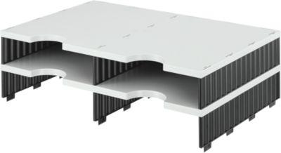 styro® Sortierstation styrodoc Standard, DIN C4, Anbaueinheit, grau/schwarz