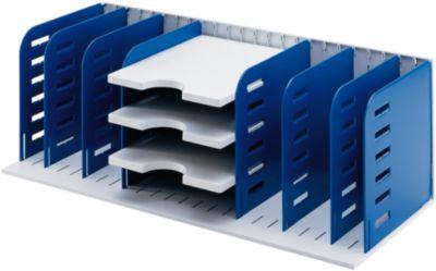 styro® Sortierstation Styrorac, 8 Trennwände + 3 Tablare, flexible Aufteilung, blau