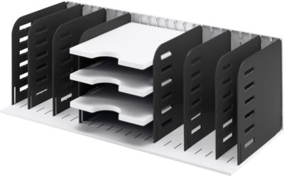 styro® Sortierstation Styrorac, 8 Trennwände + 3 Tablare, flexible Aufteilung, schwarz