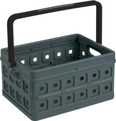 Sunware Klappbox Square, Inhalt 24 Liter, mit Griff, schwarz