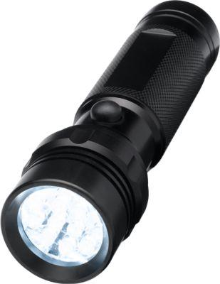 Super-LED-Taschenlampe, schwarz