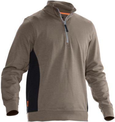 Sweatshirt 1/2 zip khaki 4XL