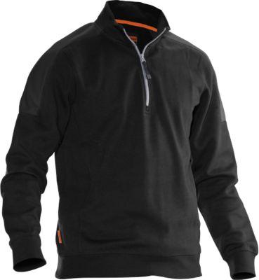 Sweatshirt 1/2 Zip schwarz/gelb S