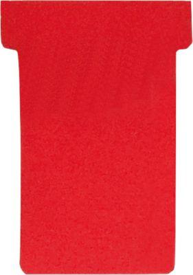 T-insteekkaarten voor T-insteekborden, grootte 2, rood