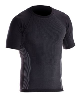 T-Shirt Hautnah grau/schwarz XXL