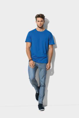 T-Shirt Herren CLASSIC T-ORGANIC CREW NECK, Biobaumwolle, Rundhals, bright royal, Gr. XL