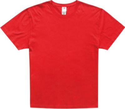 T-Shirt Herren CLASSIC T-ORGANIC CREW NECK, Biobaumwolle, Rundhals, scarlet red, Gr. M