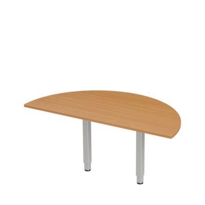 Table d'extension PLANOVA ergoSTYLE, 1/2-cercle, décor hêtre/alu blanc