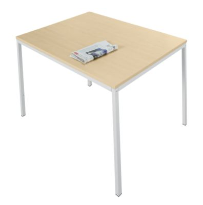 Tafel 1200 x 700 mm, ahorndekor/wit alu