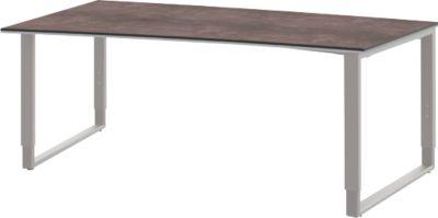 Tafel vrije vorm,links,b1800, kw./alu