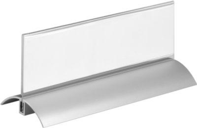 Tafelbordjes met aluminium voet 61x210 mm, 2 st.