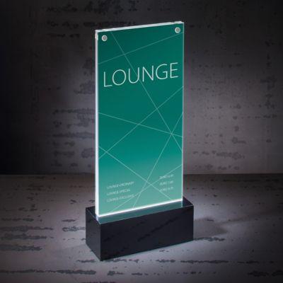 Tafelstandaard DIN lang: stijlvol design, afmetingen 116 x 254 x 46 mm