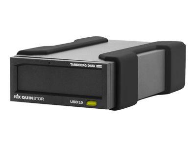 Tandberg RDX QuikStor - RDX-Laufwerk - SuperSpeed USB 3.0 - extern - mit 2-TB-Kassette