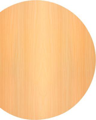 TARA aanbouwtafel, boog, b 1000 x d 800 x h 720 mm, beukendecor