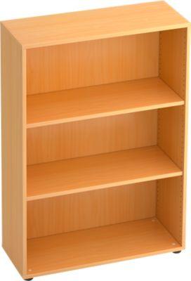 TARA boekenkast, 3 OH, stapelbaar, B. 800 x D 330 x H 1144 mm, beukendecor