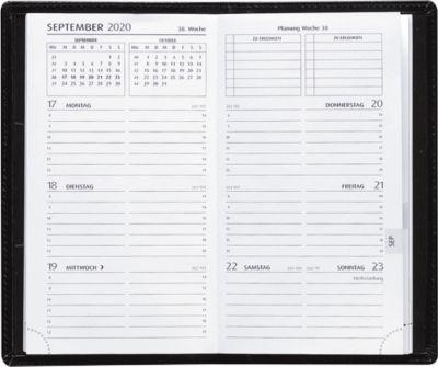 Taschenkalender Delta Line, schwarz, 128 Seiten