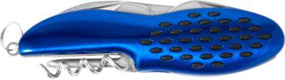 Taschenmesser BUMP, Edelstahl, ergonomischer Griff, multifunktional, Lasergravur o. Tampondruck 25 x 9 mm, blau