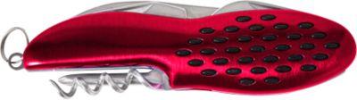 Taschenmesser BUMP, Edelstahl, ergonomischer Griff, multifunktional, Lasergravur o. Tampondruck 25 x 9 mm, rot