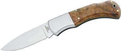 Taschenmesser in Holzbox, Drop-Point-Klinge aus rostfreiem Hochleistungsstahl
