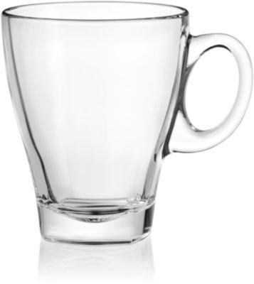 Tasse Glastasse Trient, Fassungsvermögen 355 ml, ideal für die Werbeanbringung