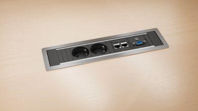 Technikeinsatz Power Frame zum Einlassen in Tischplatten