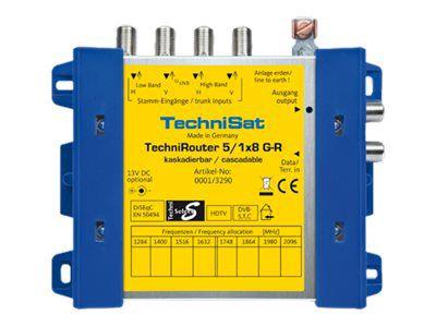TechniSat TechniRouter 5/1x8 G-R - Multiswitch Satelliten-/terrestrisches Signal