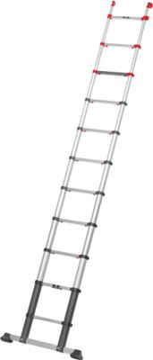 Telescopische ladder FlexLine, EN 131-6, hoogte verstelbaar, met 1 hand te ontgrendelen, tot 150 kg, 11 sporten