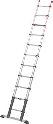 Telescopische ladder Hailo FlexLine, EN 131-6, in hoogte verstelbaar, met één hand te ontgrendelen, tot 150 kg, 11 sporten