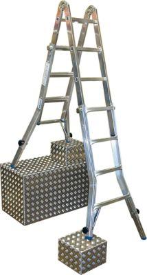 Telescopische ladder TeleVario, met 4 x 4 sporten