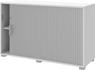 TEQSTYLE roldeurkast, rechts openend, afsluitbaar, b 1200 x h 745 mm, wit