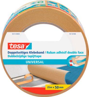 tesa® Doppelseitiges Klebeband Universal, 25 m x 50 mm, weiß, 6 Rollen