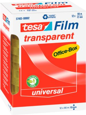 tesa® Film, ø 76 mm, 66 m x 12 mm, transparent
