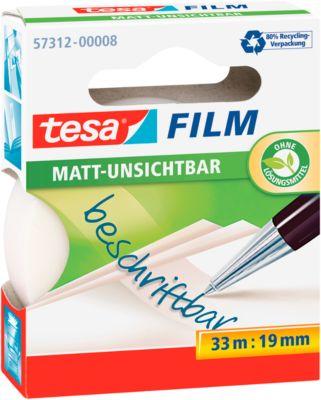 TESA Film, matt/unsichtbar, 33 m x 19 mm, 10 Rollen