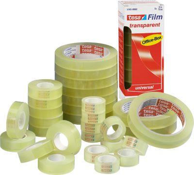 Tesa® plakband Film, 12 mm x 66 m, transparant, 12 rollen