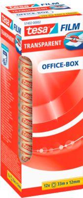 tesa® plakband Film transparant, 12 mm x 33 m, 12 rollen