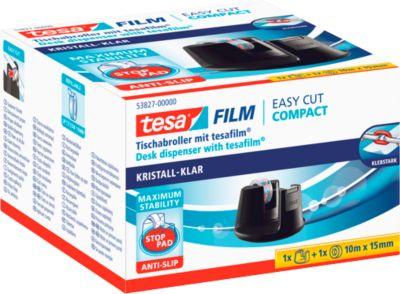 tesa® plakbandafroller Easy Cut Compact, zwart