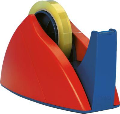 Tesa plakbandhouder, voor een rol van 25 mm x 66 m, tesa ref. 57422, rood/blauw
