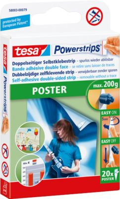 Tesa posterstrips, 20 stuks