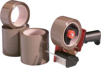 tesa® Sparpaket Packband-Abroller mit 6 Rollen, braun