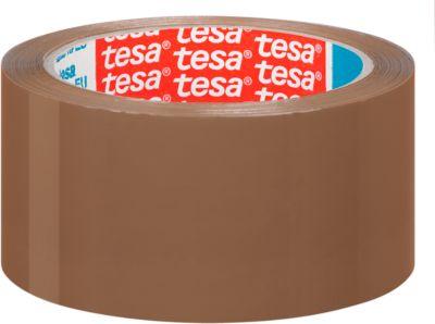 tesa® verpakkingstape PP  4195, 50 mm x 66 m, 6 rollen, bruin