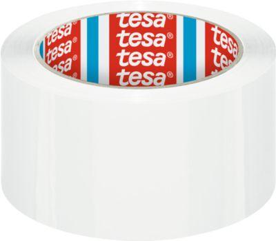tesa® verpakkingstape PP  4195, 50 mm x 66 m, 6 rollen, wit