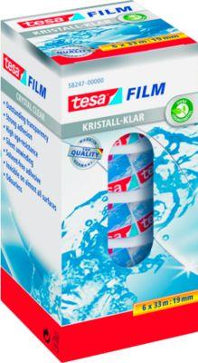 tesafilm® plakband Crystal, 19 mm x 33  m, spaarpak van 6 rollen