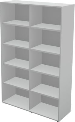 TETRIS WALL boekenkast, spaanplaat, 5 OH, B 1000 x D 420 x H 1880 mm, lichtgrijs