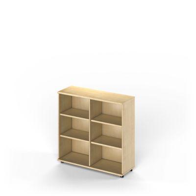 TETRIS WOOD boekenkast, 3 OH, B 1200 x D 421 x H 1160 mm, ahorndecor