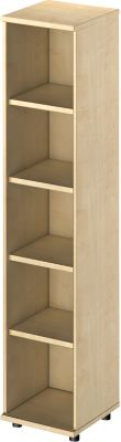 TETRIS WOOD open kast, 5 OH, b 400, hoogte incl. glijders, sokkel (optioneel), ahorndecor